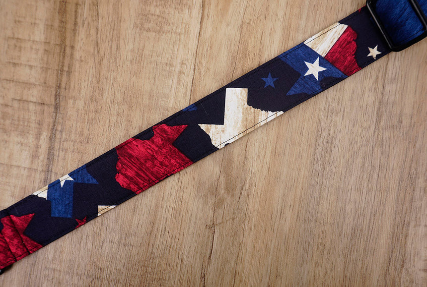 American flag clip on ukulele hook strap no drill, no button -4