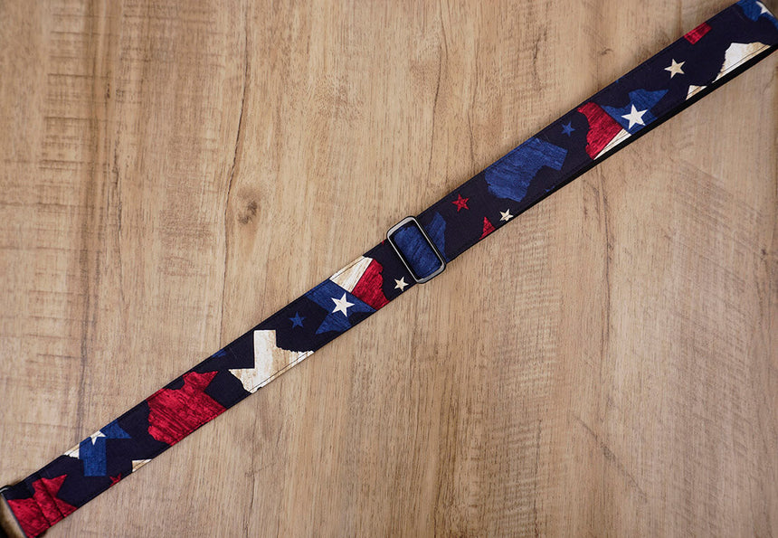 American flag clip on ukulele hook strap no drill, no button -7