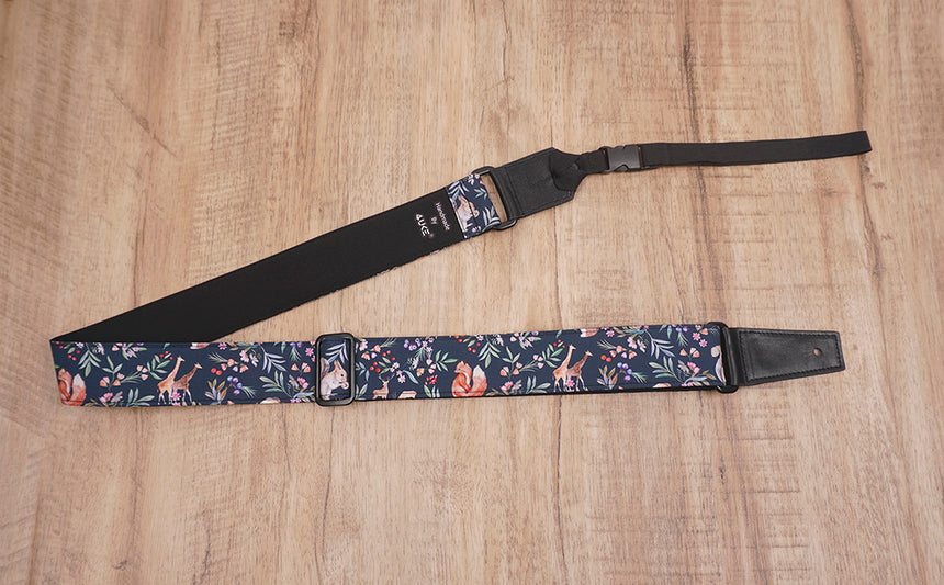 nature world ukulele shoulder strap with leather ends-3