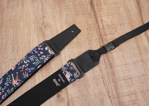nature world ukulele shoulder strap with leather ends-5