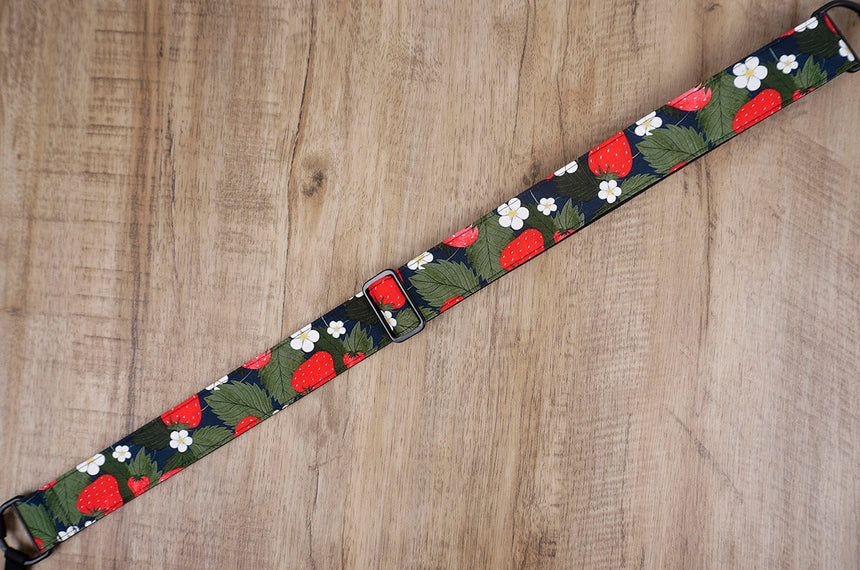 strawberry and flower clip on ukulele hook strap, no drill, no button-4