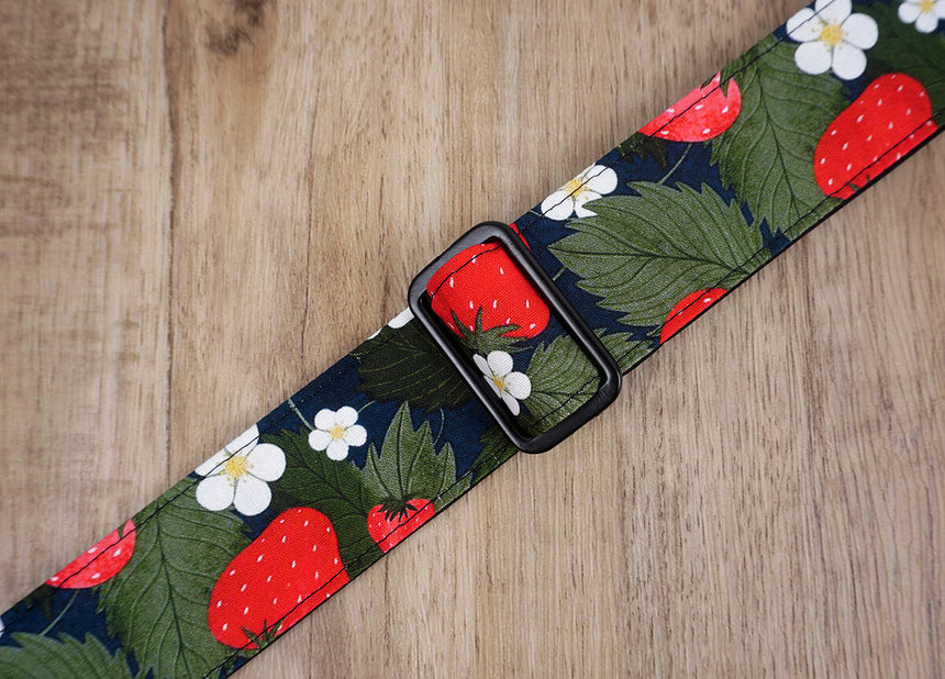 strawberry and flower clip on ukulele hook strap, no drill, no button-5