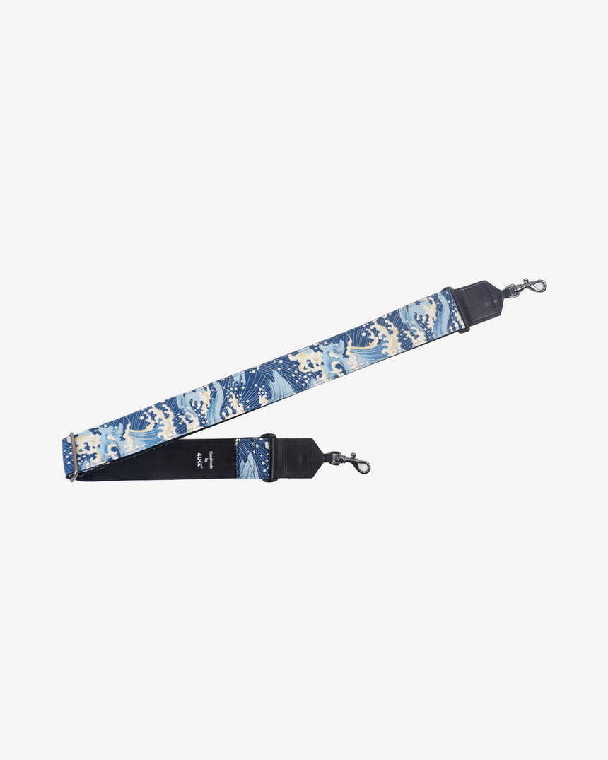 Blue wave banjo strap with hook-1