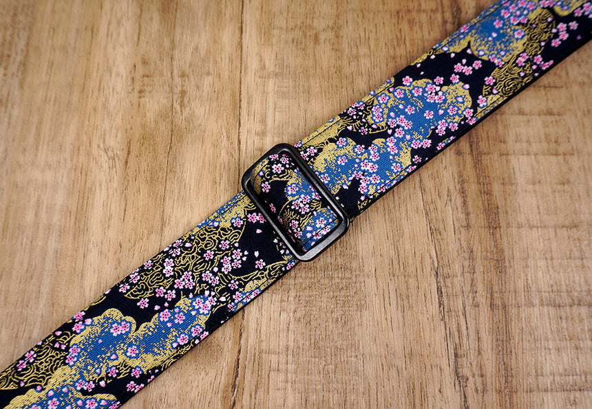 cherry blossom clip on ukulele hook strap-3