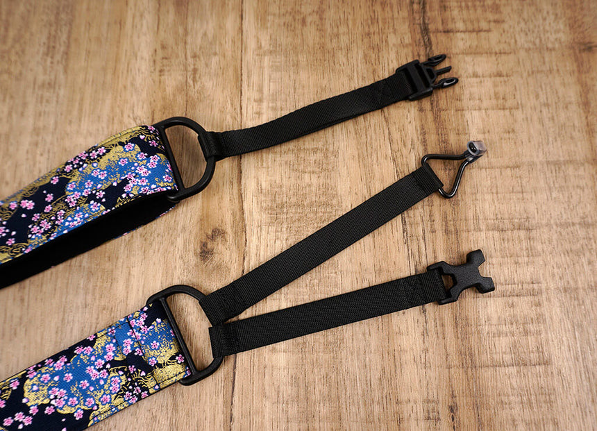 cherry blossom clip on ukulele hook strap-4