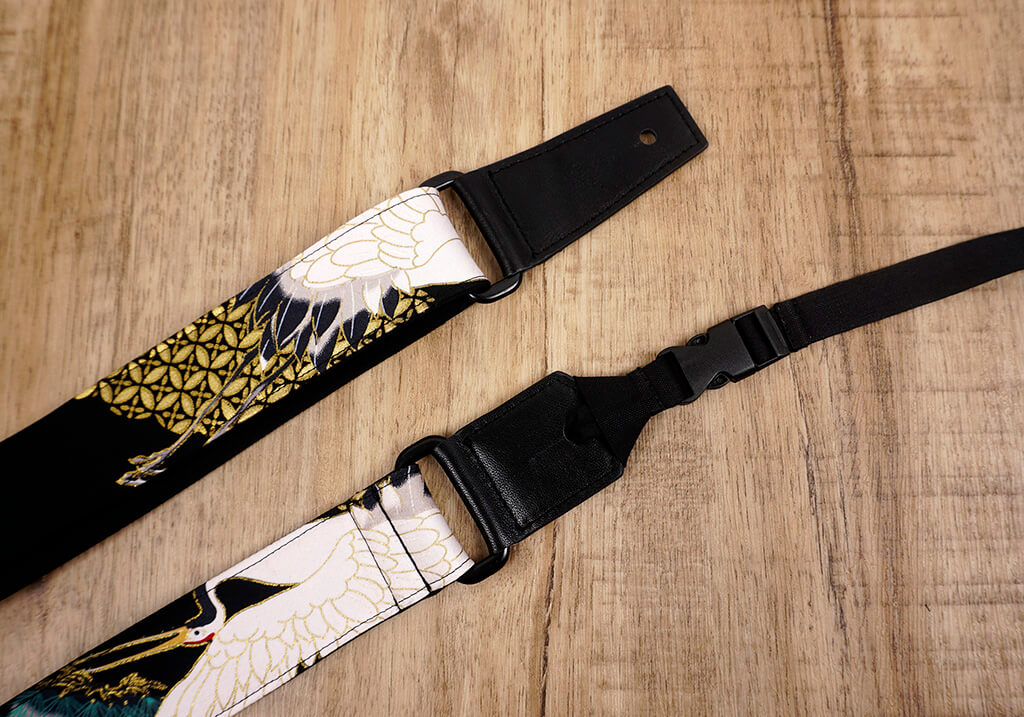 crane and pine ukulele shoulder strap with leather ends-5