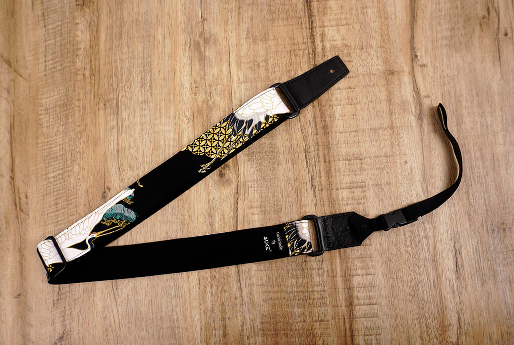crane and pine ukulele shoulder strap with leather ends-6