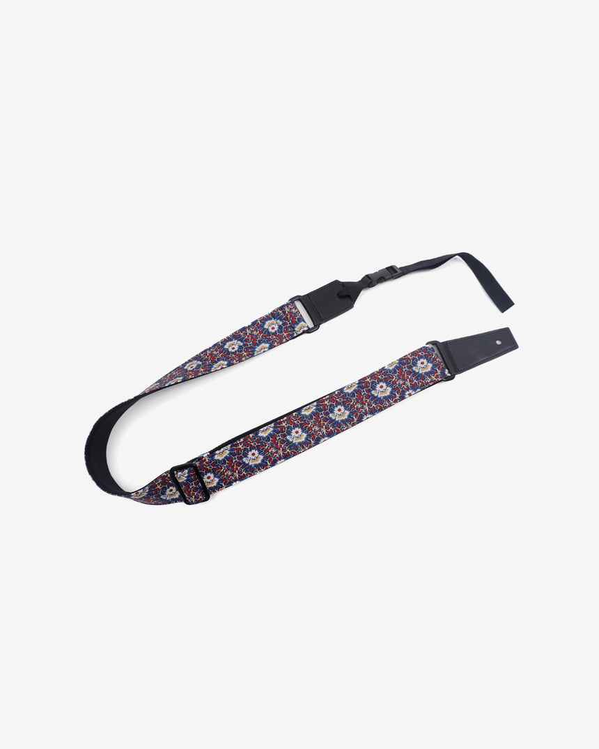 Thorn Daisy ukulele shoulder strap with leather ends-1