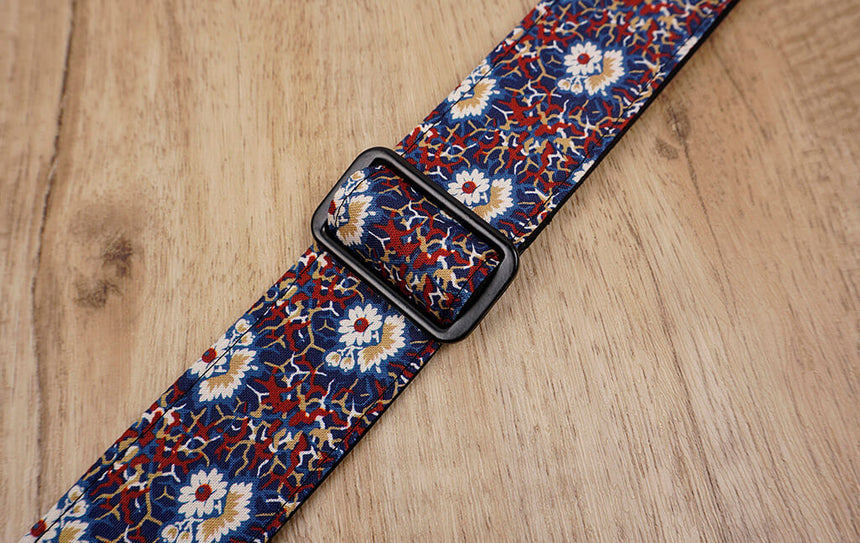 Thorn Daisy ukulele shoulder strap with leather ends-5