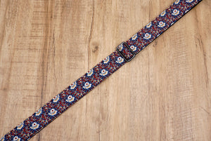 Thorn Daisy ukulele shoulder strap with leather ends-6
