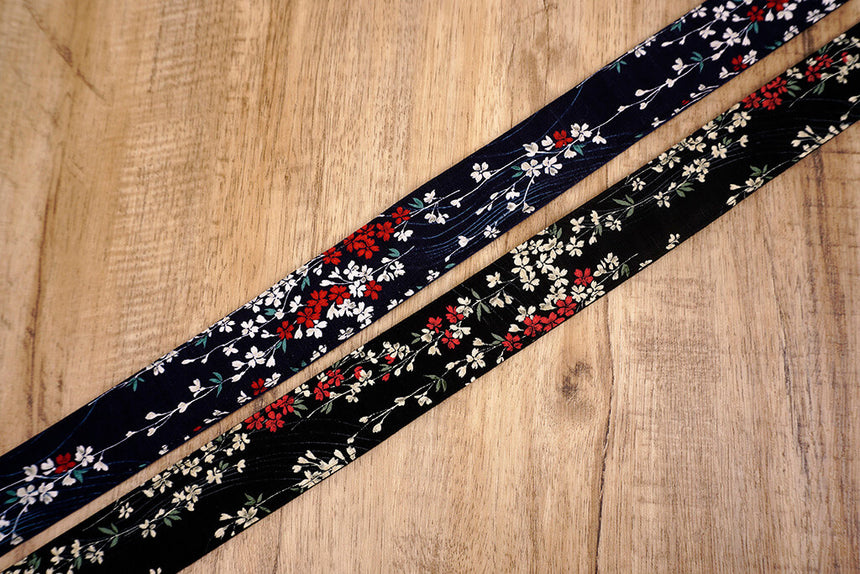 weeping cherry blossom printed floral camera strap-8