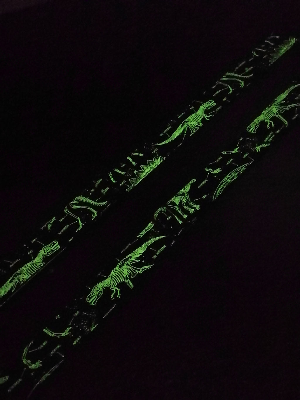 dinosaur grow in the dark ukulele strap