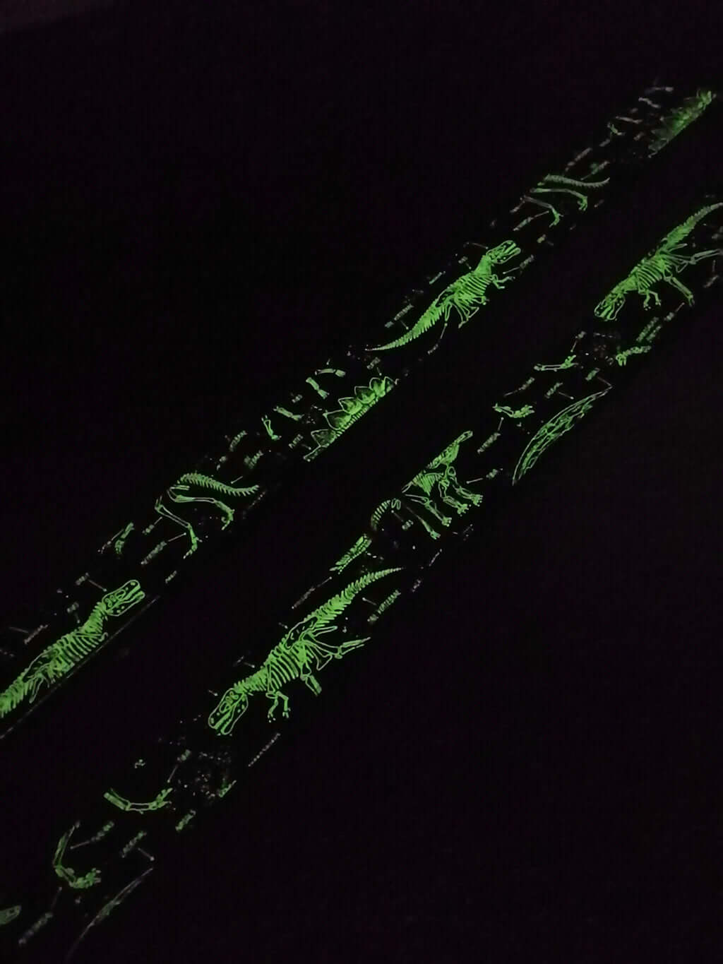 dinosaur grow in the dark clip on ukulele strap with hook