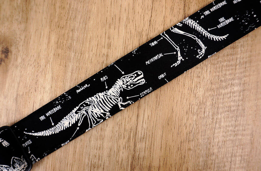 dinosaur grow in the dark clip on ukulele strap with hook -5