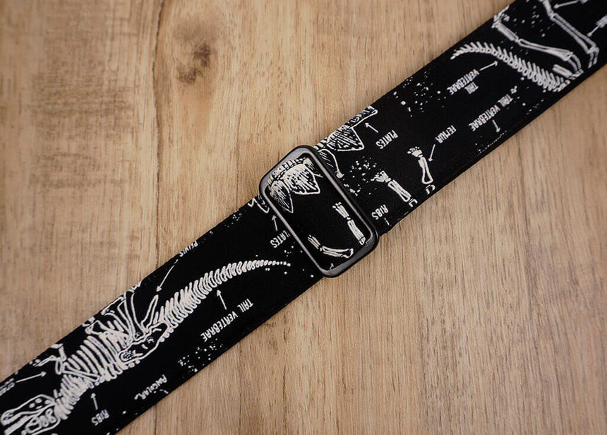 dinosaur grow in the dark clip on ukulele strap with hook -7