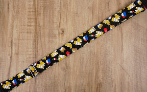 Akita Dog Guitar Strap with leather ends-4