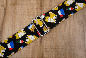 Akita Dog Guitar Strap with leather ends-6