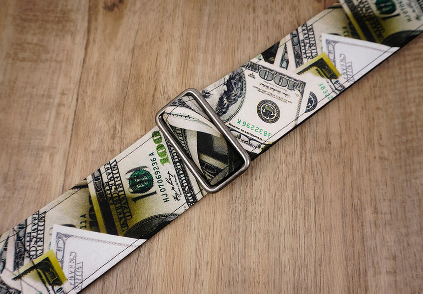 Dollars funny guitar strap with leather ends -4
