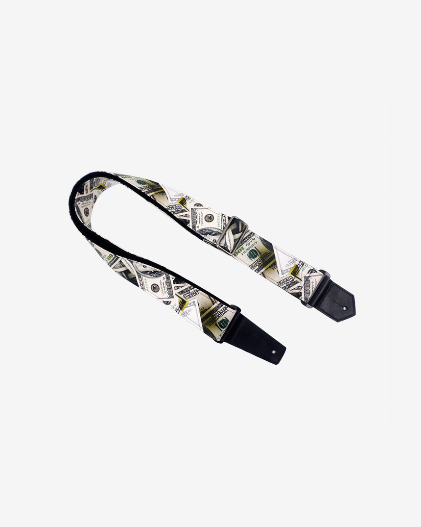 Dollars funny guitar strap with leather ends -1