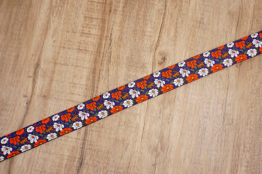 red white flowers camera strap-6