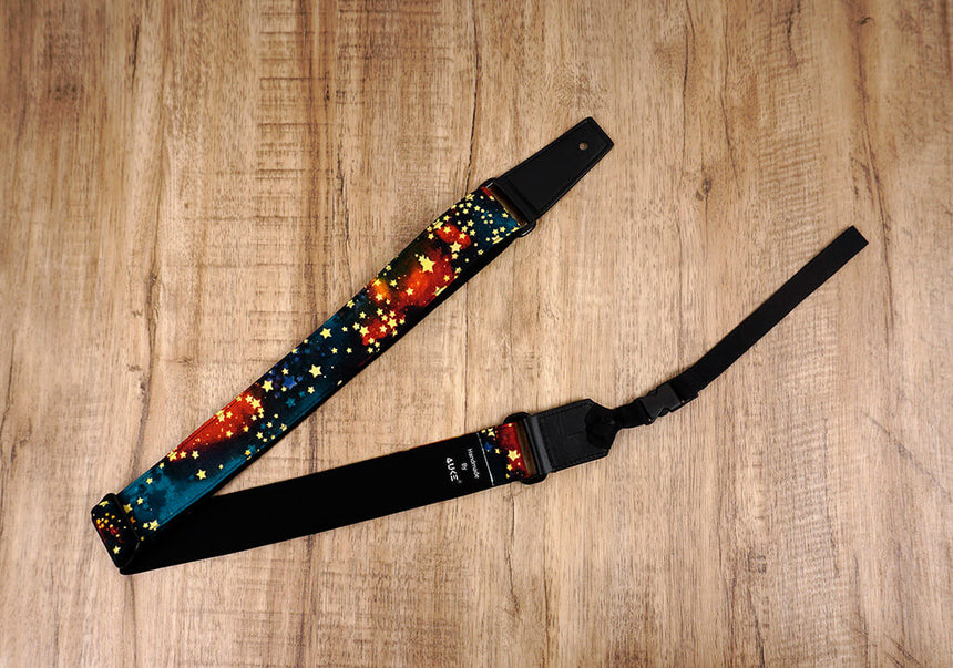 galaxy stars ukulele shoulder strap with leather ends-3