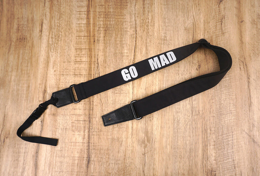 Go mad black ukulele shoulder strap-3