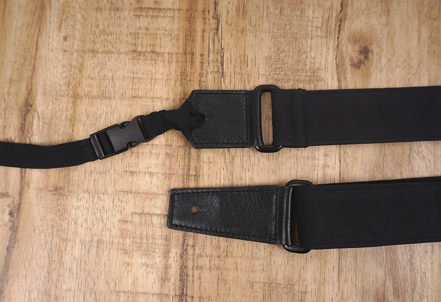 Go mad black ukulele shoulder strap-4