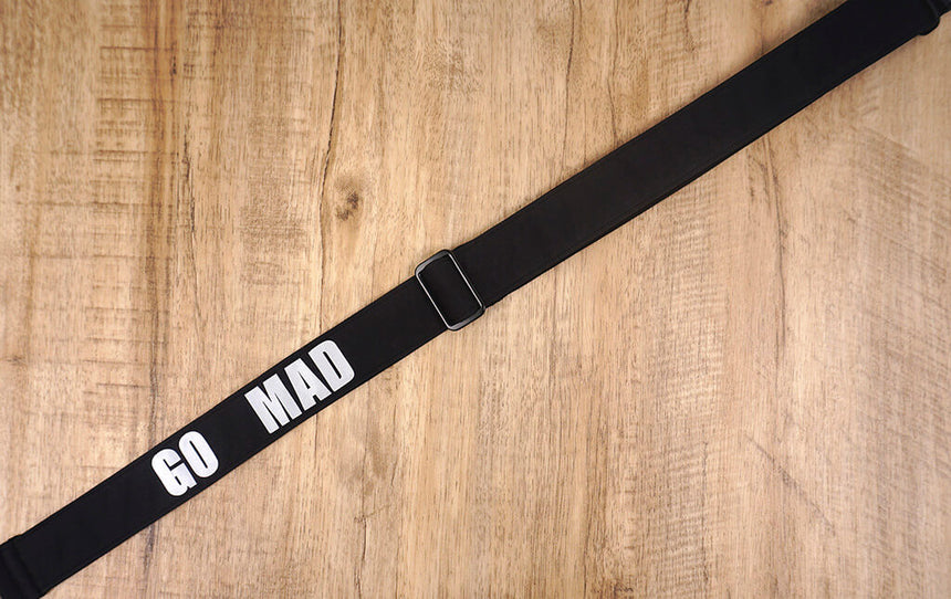 Go mad black ukulele shoulder strap-2