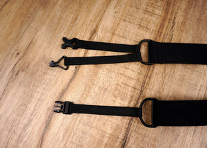 go mad black clip on ukulele hook strap-3
