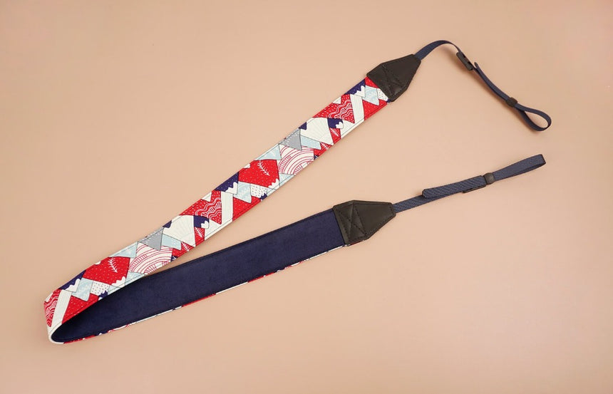 hill and forest printed camera strap-2