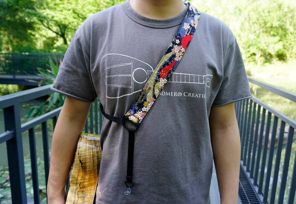 Hill and Sakura clip-on ukulele hook strap-4