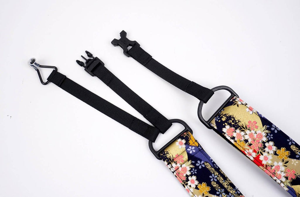 Hill and Sakura clip-on ukulele hook strap-6