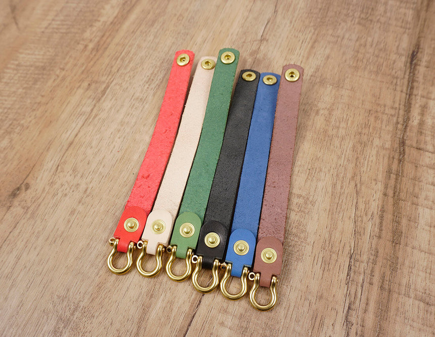 Multicolor Personalized leather keychain -5