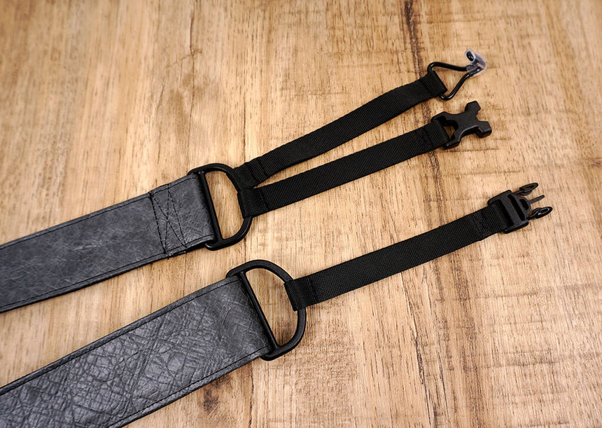 metallic grey eco clip-on ukulele hook strap-6