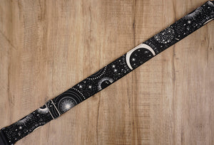 moon star glow in the dark guitar strap with leather ends-8