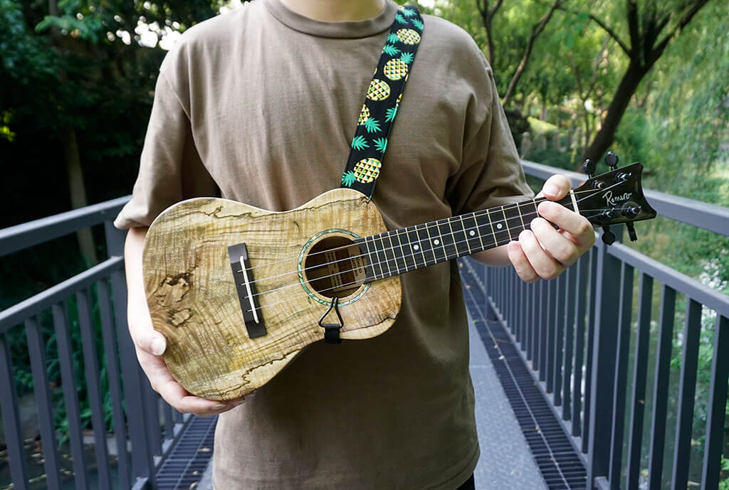 pineapple clip on ukulele hook strap-3