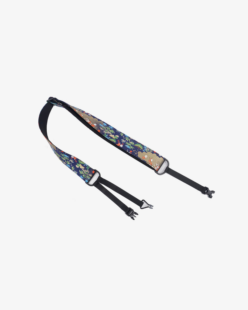 Pine, bamboo, and plum blossom clip on ukulele hook strap-1