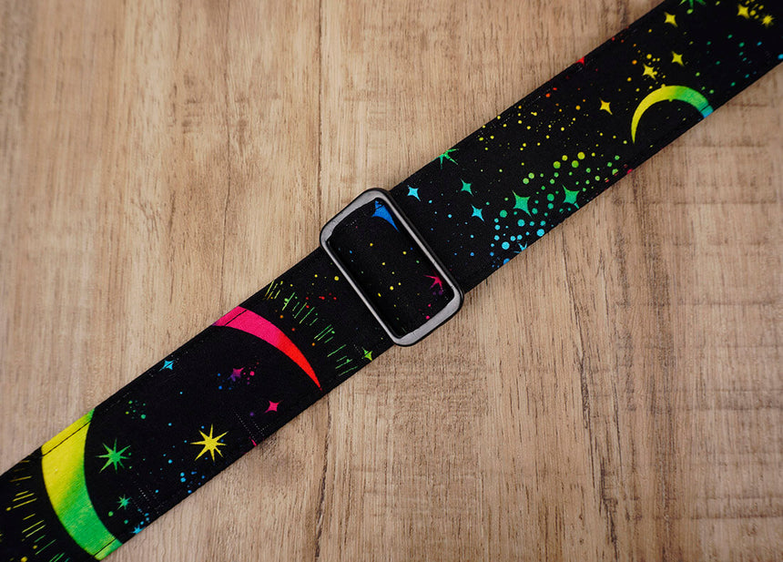rainbow moon star clip on ukulele hook strap no drilling, no button -4