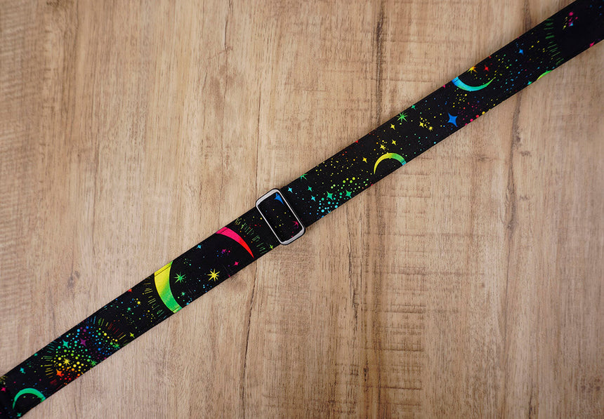 rainbow moon star clip on ukulele hook strap no drilling, no button -6