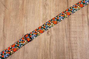 red daisy clip-on ukulele hook strap-5