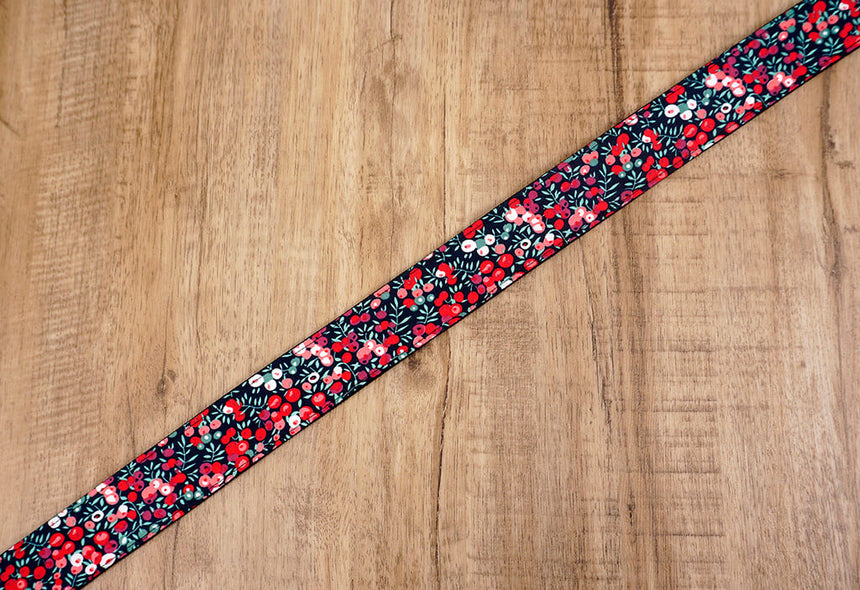 red berry floral camera strap-5