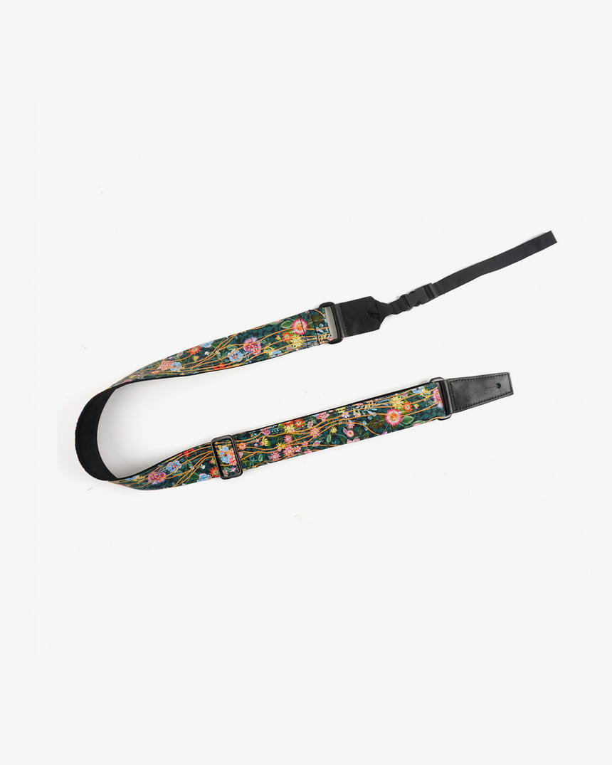 ukulele shoulder strap with flowers garden printed