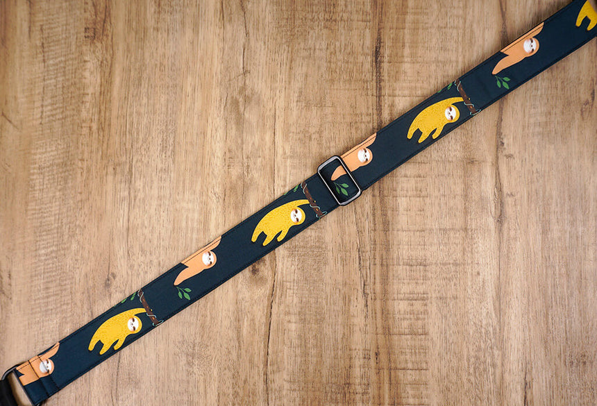 colorful sloth clip on ukulele hook strap-3