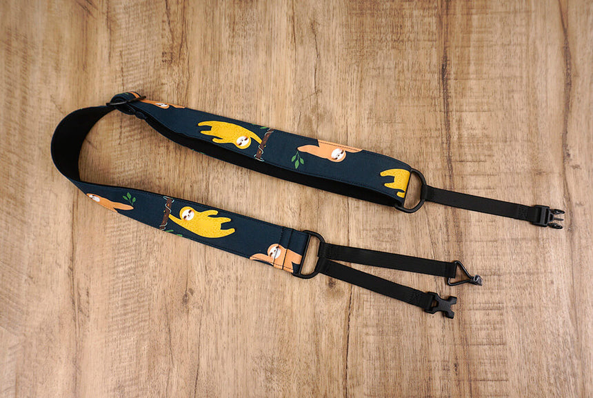 colorful sloth clip on ukulele hook strap-2