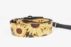 sunflower leather ends ukulele shoulder strap-detail-2