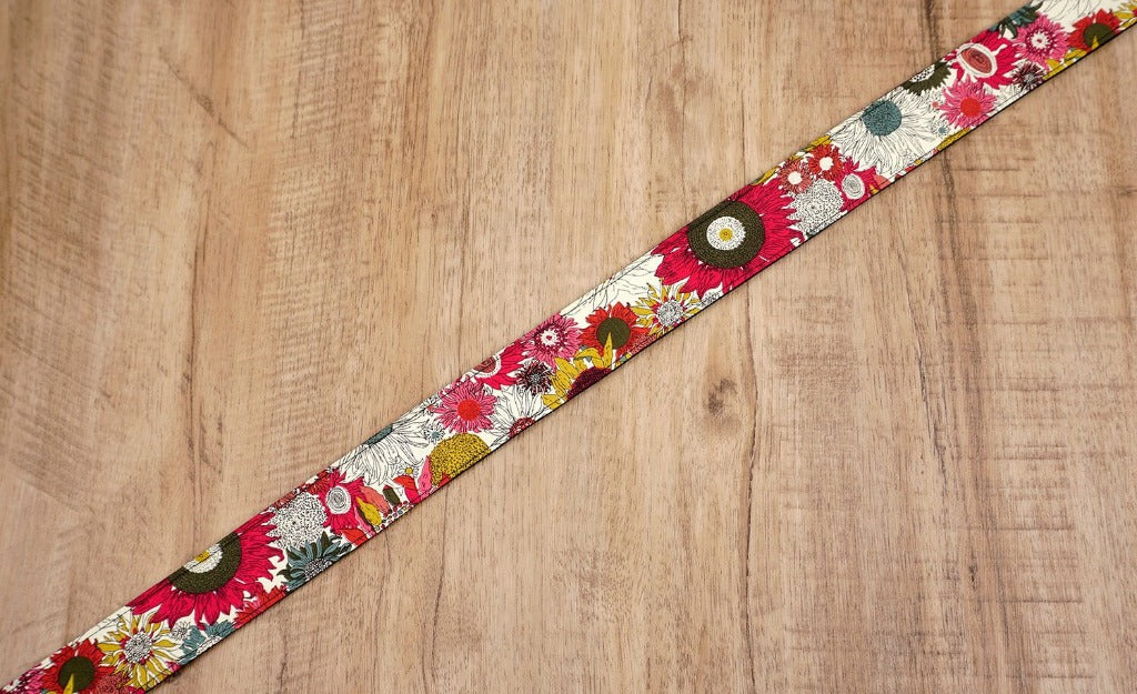 Red Sunflower camera strap-4