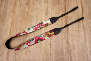 Red Sunflower camera strap-2