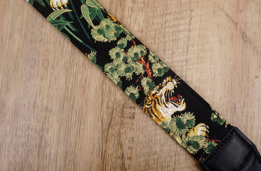 tiger camera strap with leather ends -5