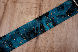 universe space guitar strap with leather ends-4