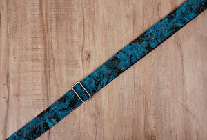 universe space guitar strap with leather ends-5